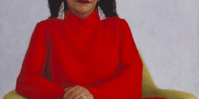 Jude Rae (born 1956) The Hon Linda Burney, 2018, Historic Memorials Collection, Parliament House Art Collection. Courtesy of the Department of Parliamentary Services, Canberra.
