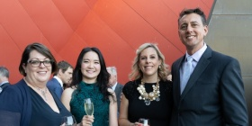 Jane Betts, Holly Jiang with Robin and Paul Dearlove