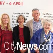 Katy Mutton, Keiko Schmeisser, David and Margaret Williams