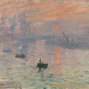 """Claude Monet's """"Impression, Sunrise"""", 1872, oil on canvas, 50cm x 65cm, from the Musée Marmottan Monet, Paris"""
