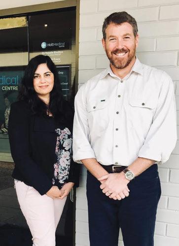 Dr Natalie Boulton and Dr Richard Evans of Holt Medical Centre.