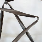 'Tract,' detail, 2018, by Jamie Rogers, waxed steel. Photo Simon Scott Photography.