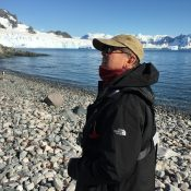 Artist Ken Knight on a painting excursion to Antarctica
