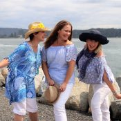 Mamma Mia, Tanya, Donna and Rosie played by Helen McFarlane, Louiza Blomfield and Tracy Noble