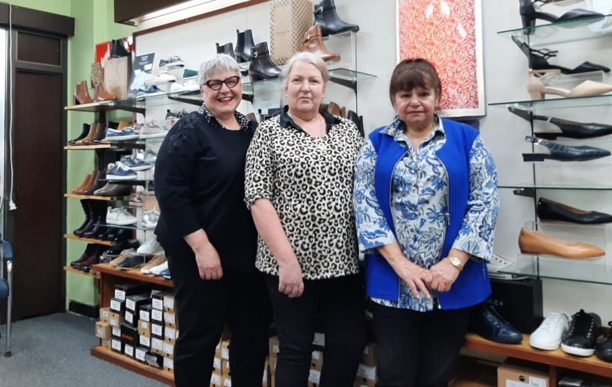The team at Frawley's Shoes, from left, Lisa Mudge, Gillian Rumball and Antoinette Nestler.