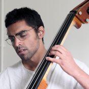 Rohan Dasika on bass. Photo Peter Hislop